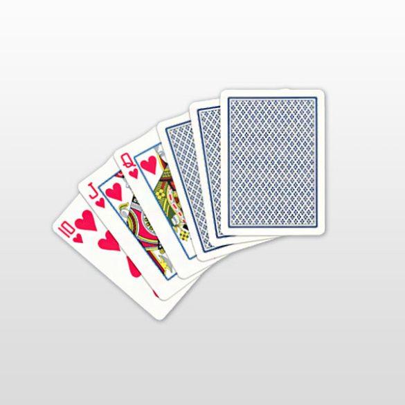 Póker kártya 100% plasztik, COPAG, kék, Regular Face (kis számma
