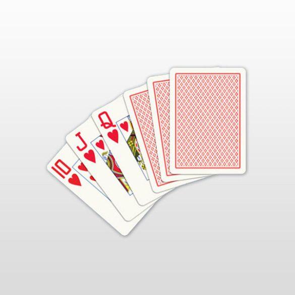Póker kártya 100% plasztik, COPAG, piros, Jumbo Face (nagy számmal)