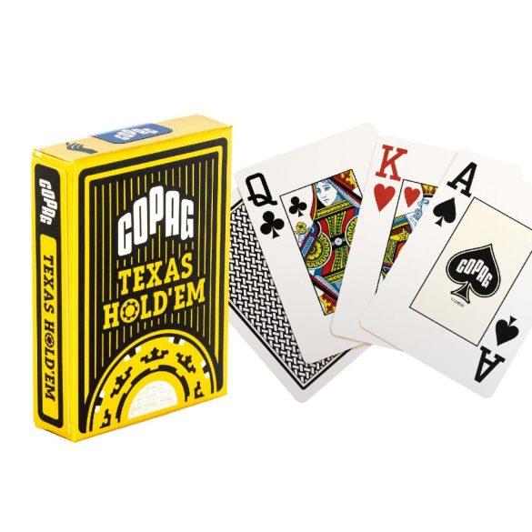 Copag Texas hold'em póker kártya fekete GOLD Range 100% plasztik