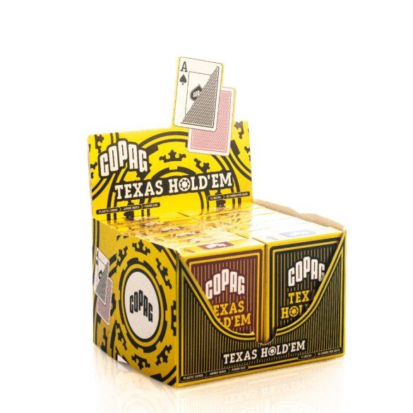 Copag Texas Hold'em póker kártya GOLD Range 100% plasztik 1 karton (12 csomag)