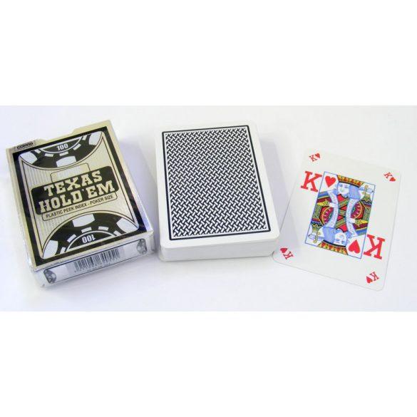 póker kártya VISION, COPAG 100% plasztik silver range (fekete hátlappal)