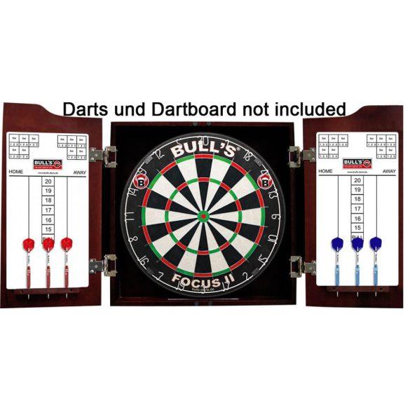 Bull's Dartstation exclusive solid wood mahagony komplett dart szett