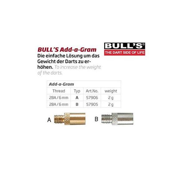 Bull's Darts plusz súly 2g/db 2B/A standard menetes