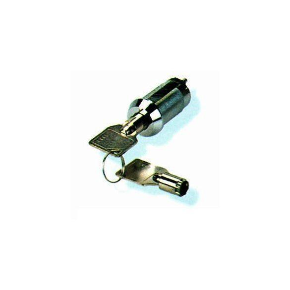 Kreditkapcsoló körkulcsos rugós, azonos kulcsos, egy kulccsal