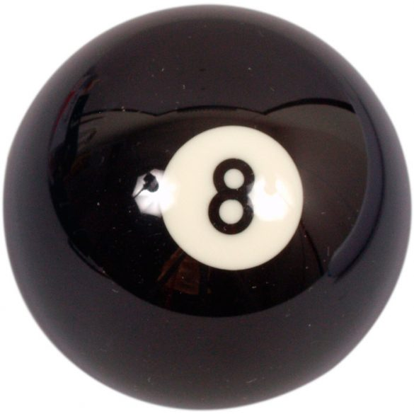 pool biliárd golyó, 57,2mm 8-as Ventura Buffalo