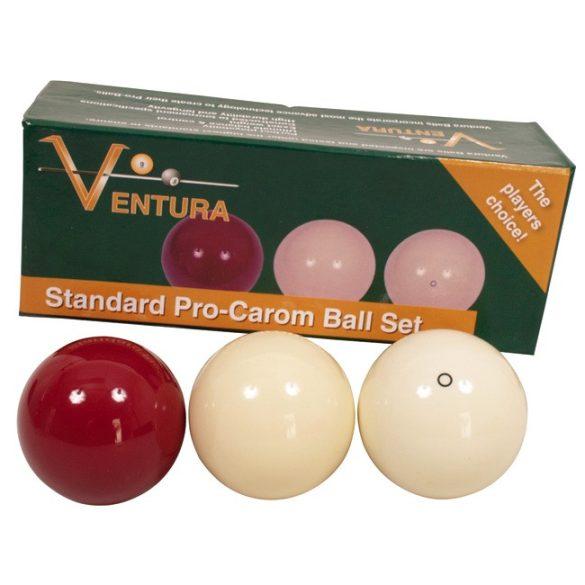 Karambol golyókészlet Ventura 61,5mm fehér-fehér-bordó