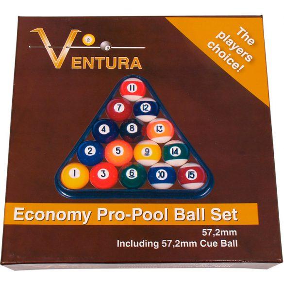 golyókészlet VENTURA 57,2 pool 57,2mm-es fehér golyóval