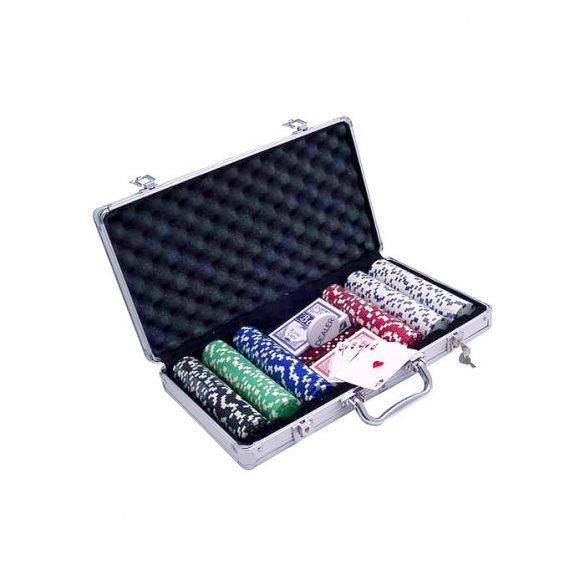 Pókerkészlet Buffalo 300db, számozatlan dice 5 szín, 11,5gr-os zsetonokkal