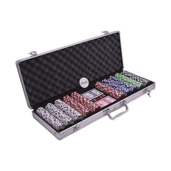 pókerkészlet Buffalo 500db, számozatlan dice 5 szín