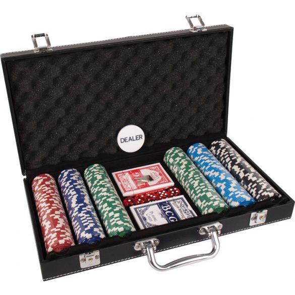 Pókerkészlet Buffalo  számozott 300 db-os, bõr kofferben