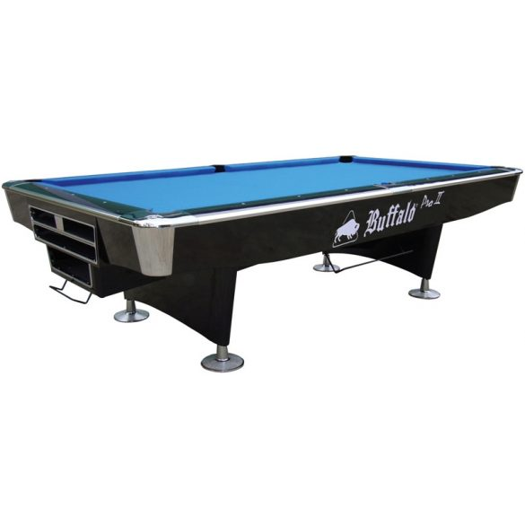 Buffalo  Pro II black zsebes pool biliárd asztal 8'