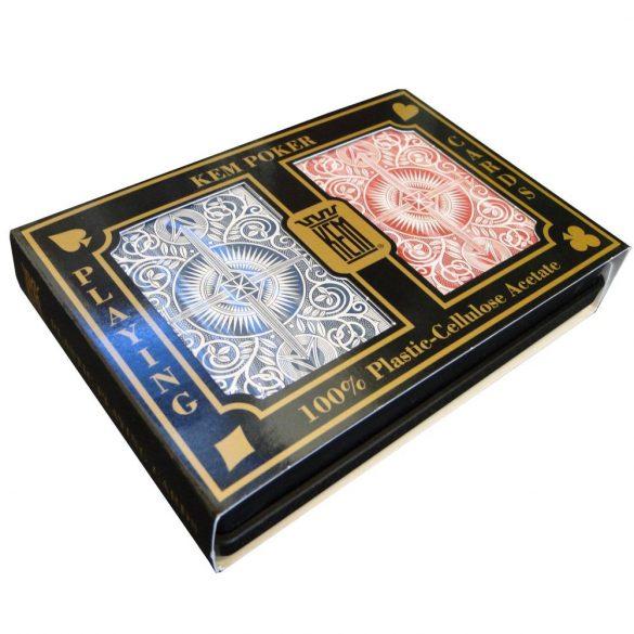 Póker kártya KEM Arrow Red & Blue Wide Jumbo Index 100% plasztik