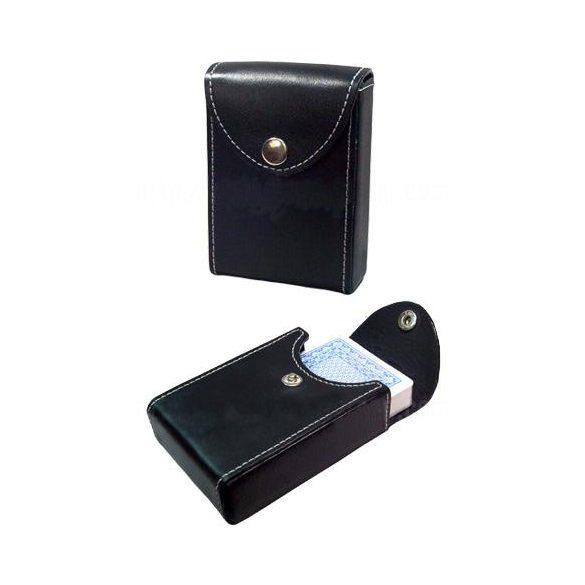 Bõrhatású kártyatartó tok 1 paklihoz, Copag fekete