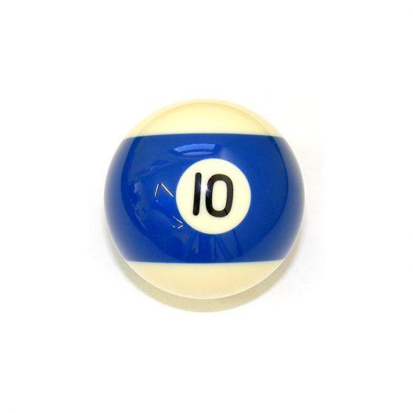 Pool biliárd golyó, 57,2mm 10-es