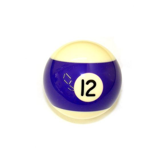 Pool biliárd golyó, 57,2mm 12-es