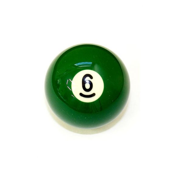 Pool biliárd golyó, 57,2mm 6-os