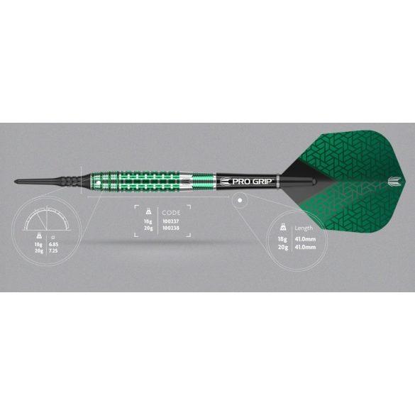 Darts szett TARGET soft, 20g, Agora Verde AV30, 90% wolfram