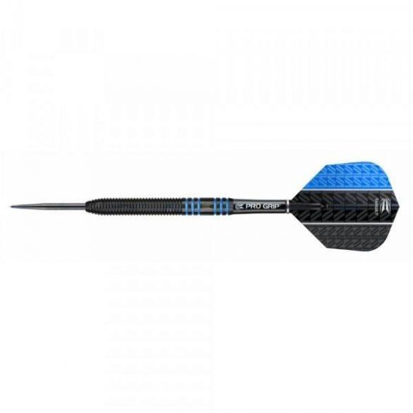 Darts szett TARGET steel, 22g, Vapor8 black, kék, 80%