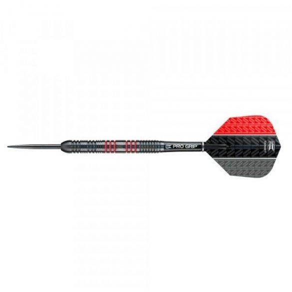 Darts szett TARGET steel, 23g, Vapor8 black, piros, 80%
